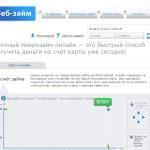 Микрозаймы Веб-займ
