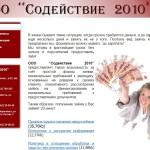 Микрозаймы Содействие 2010